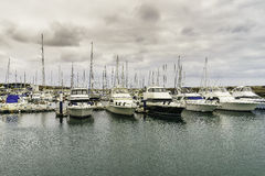 Marina in Puerto Calero Stock Photo