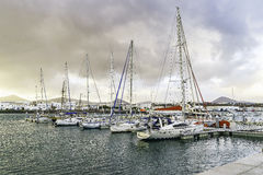 Marina in Puerto Calero Stock Images