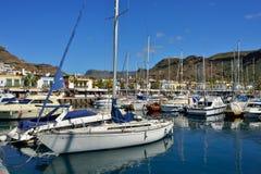 Marina Puerto de Mogan stock afbeeldingen