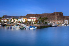 Marina of Puerto de Mogan at night Stock Images