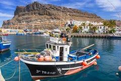 Marina of Puerto de Mogan, a small fishing port on Gran Canaria Royalty Free Stock Photos