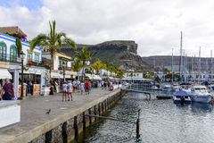 Marina in in Puerto de Mogan Royalty Free Stock Photography