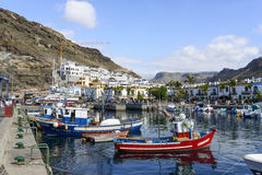 Marina in in Puerto de Mogan royalty free stock photo