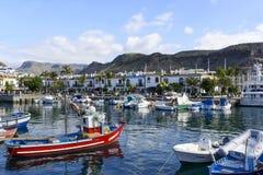 Marina in in Puerto de Mogan Stock Photography