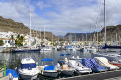 Marina in in Puerto de Mogan Stock Photography