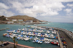 Marina in Puerto Rico, Gran Canaria Royalty Free Stock Images