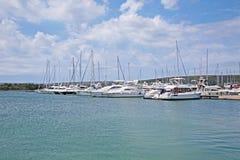 Marina Punat, adriatische Küste, 4, Kroatien Stockbild