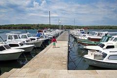 Marina Punat, adriatische Küste, 1, Kroatien Stockfotografie