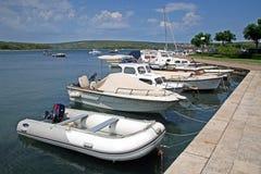 Marina Punat, adriatische Küste, 3, Kroatien Stockfoto