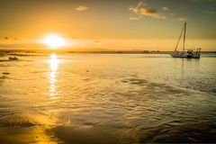 1770 marina in Queensland at sunset in Australia Royalty Free Stock Photo