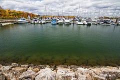 Marina with recreation boats Stock Photo