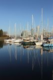 Marina Reflections, False Creek, Vancouver Royalty Free Stock Photo
