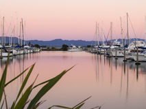 Marina reflections, Tauranga. Royalty Free Stock Photos