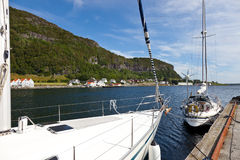 Marina in Rennesoy. Marina in the port Rennesoy, Norway stock image