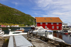 Marina in Rennesoy. Marina in the port Rennesoy, Norway stock photography