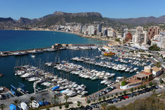 Marina of Resort Calpe, Spain Stock Photo