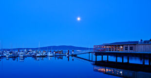A marina and restaurant Stock Photography