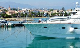 Marina in Rethymnon. Stock Photos