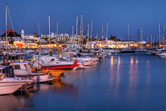 Marina Rubicon, Lanzarote, Spanien Stockbild