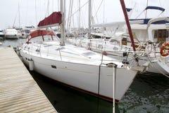 Marina sailboats in Formentera Balearic Islands Stock Photography