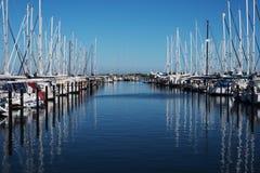 Marina with sailboats Stock Image
