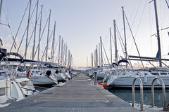 Marina with sailing boats Royalty Free Stock Photography
