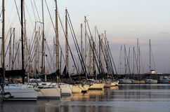 Marina, sailing yachts Stock Photo