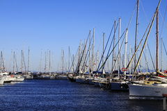 Marina, sailing yachts Royalty Free Stock Images