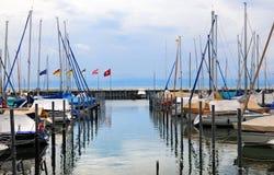 Marina. Sailingboats in marina at Friedrichshafen, lake Bodensee, Germany Royalty Free Stock Image