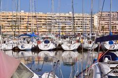 Marina of Saint-Cyprien in France Stock Photos