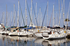Marina of Saint-Cyprien in France Stock Image