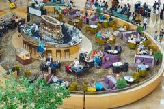 Marina sala Podpalana hotelowa restauracja Fotografia Royalty Free