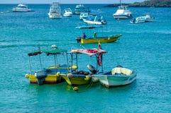 Marina in san cristobal galapagos islands ecuador Stock Photos
