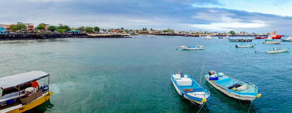 Marina in san cristobal galapagos islands ecuador Royalty Free Stock Photo