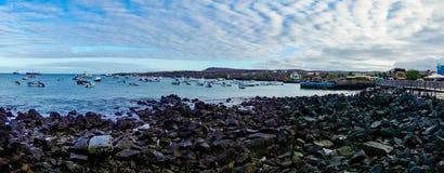 Marina in san cristobal galapagos islands ecuador Stock Images