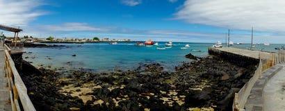 Marina in san cristobal galapagos islands ecuador Royalty Free Stock Photos