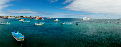 Marina in san cristobal galapagos islands ecuador Stock Photo