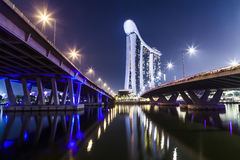 Marina Sands Bay Hotel Immagine Stock