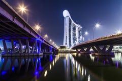 Marina Sands Bay Hotel Fotografering för Bildbyråer
