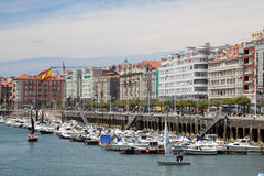 Marina in Santander, Cantabria, Spain Royalty Free Stock Photos