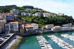 Marina and sea in Mutriku, Spain Stock Image