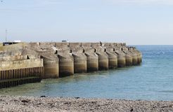 Marina sea wall at Brighton. England Stock Image