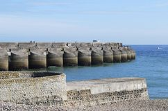 Marina sea wall at Brighton. England Royalty Free Stock Photos