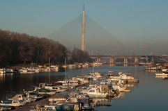 Marina See Belgrad stockfotografie