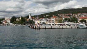 Marina in Selce stock video footage