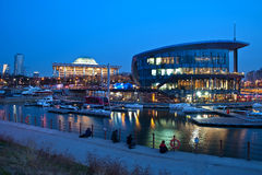 Nightview marina seoul Royalty Free Stock Photos