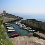 Marina Serra Puglia, Italien arkivbild