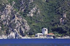 Marina of Simonopetra Monastery. Mount Athos. Royalty Free Stock Image