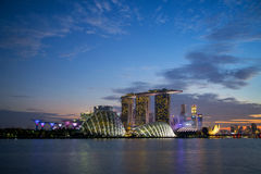 MARINA ,SINGAPORE -June 3 2016: Singapore skyline city marina b Stock Photo