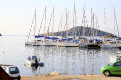 Marina, Skiathos town, Greece. Royalty Free Stock Photography